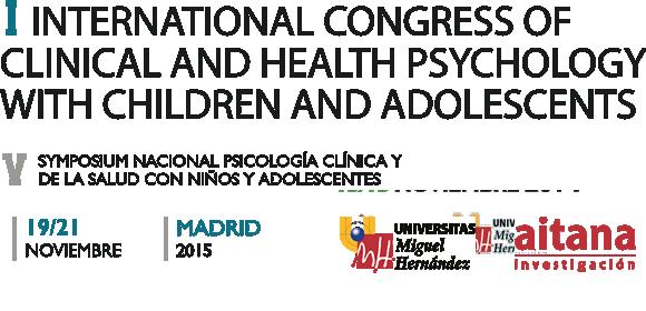 2015 Symposium Nacional de Psicología Clínica y de la Salud con niños y adolescentes